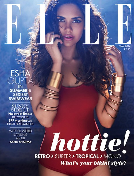 ELLE cover, makeup by Biance Hartkopf