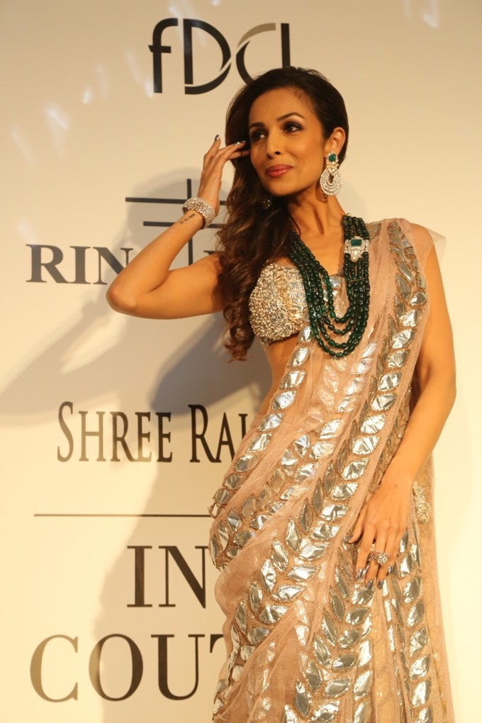 Malaika Arora Khan looking stunning in Rina Dhaka saree
